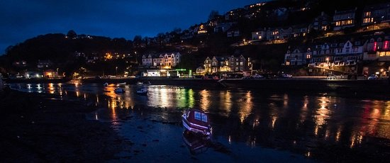 Nearby Looe bay at night