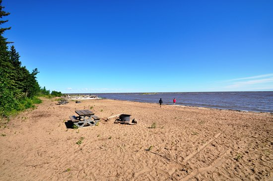 Miles of sandy beaches await you at Hay River Territorial Park