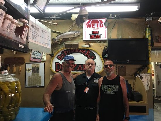 Me, Tommy, and Big George, and Kraig inside Dirty Al's