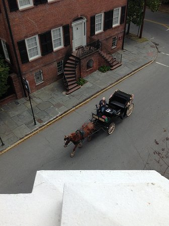 The Kehoe House - A Boutique Inn: View of a Savannah Carriage Ride carriage. We took a ride when in Savannah for our wedding.