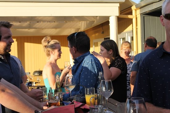 No.5 Cafe & Larder: Out on the deck overlooking the golf course