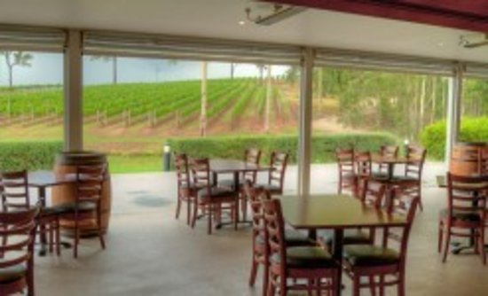 RidgeView Restaurant,Wines & Cottages: View from the restaurant