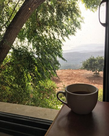 Amirim, Israel: View from the dining room
