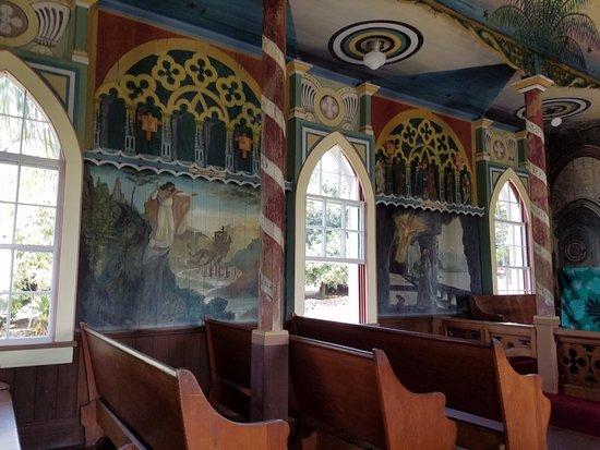 Honaunau, HI: Inside the Painted Church