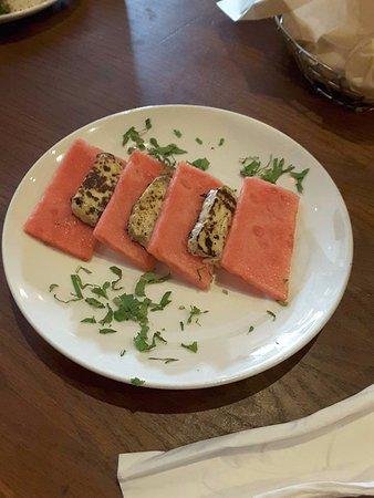 Open Sesame : watermelon and halloumi