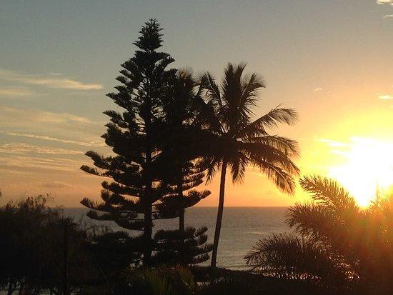 Bargara, Australia: View of ocean in morning from balcony room 306
