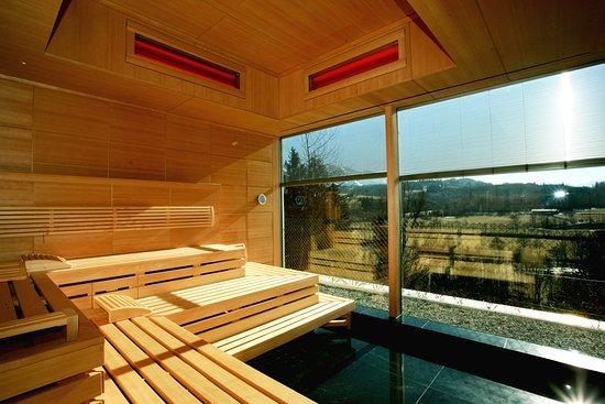 Sauna mit blick auf die alpen picture of allgau stern for Allgau sonthofen hotel