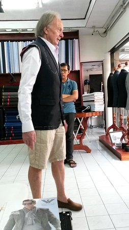 Ama Fashion: Checking the initial suit fitting