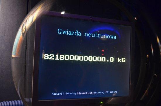 Planetarium - Toruń: Waga na Gwieździe neuronowej