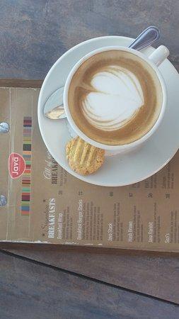 Caffe Java: Cappuccino and the Caffee Java menu