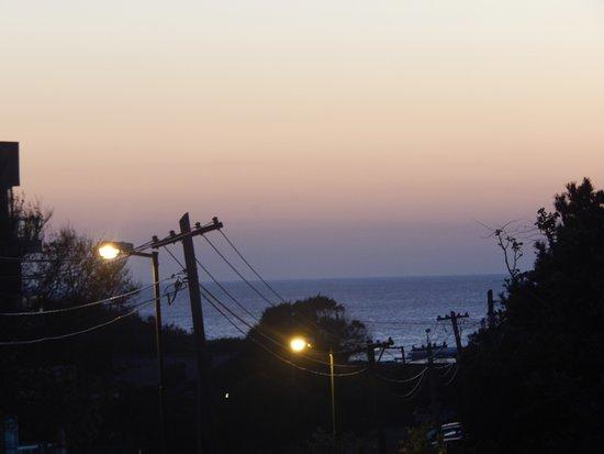 Ostende, Аргентина: Vista del amanecer, desde la habitación que da la frente...