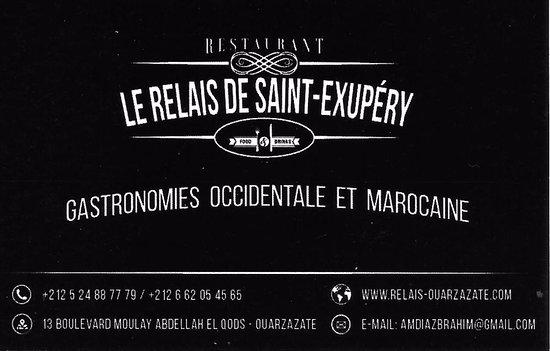Relais Saint-Exupery: visitekaartje