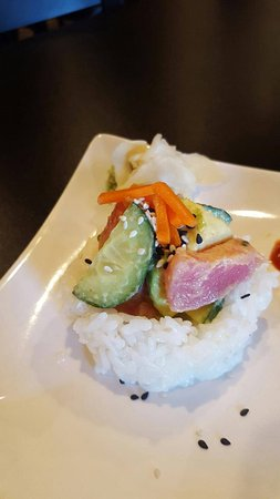 Lecanto, FL: Come to World Fusion and enjoy Marinated Ahi Rice bowls! 2 for $8 or enjoy 1 for $4.50