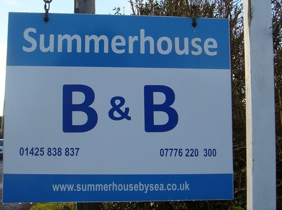 Summerhouse Bed & Breakfast: The Road Sign
