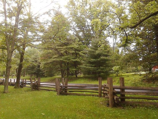 Newport, PA: This lovely fence next to the mill is also a wonderful place to snap a photo of someone special!