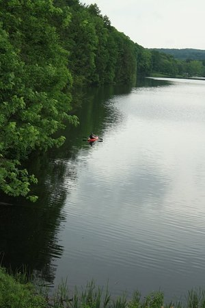 Little Buffalo State Park: Such a glorious lake for a quiet canoe or kayak excursion!