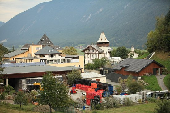 Tarrenz, Austria: The brewery and view in the Gurgl valley