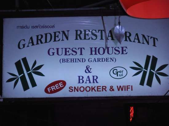 Oriental Garden Chiang Mai: bord ingang