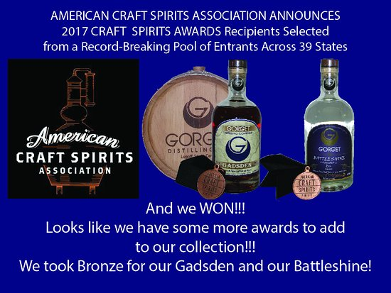 Lugoff, Güney Carolina: AWARD WINNING SPIRITS!