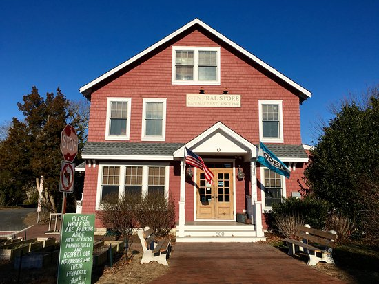 Cape May Point, Nueva Jersey: Red Store on a sunny day