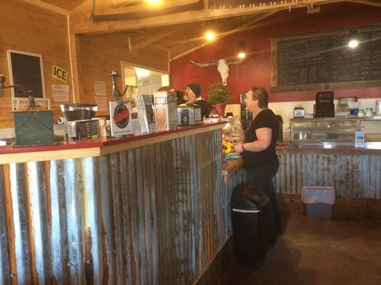 Mancos, CO: At the coffee bar!