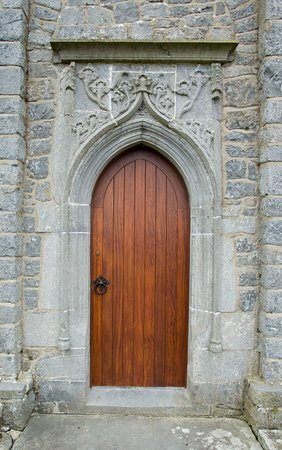 Freshford, Ireland: Clomantagh Castle Feature Door