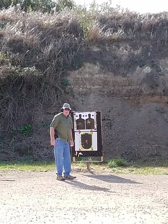 At the Bandera Gun Club Pistol range