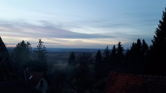 Hufingen, Duitsland: Panoramic view from gasthof