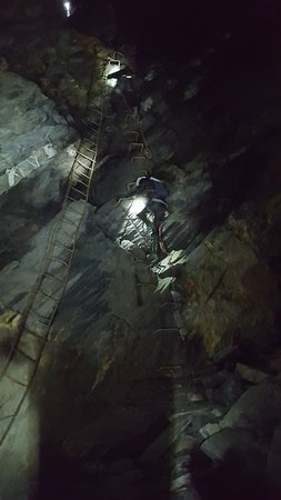 Betws-y-Coed, UK: climbing the ladder in the mines