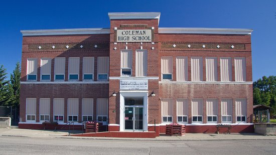 ‪‪Coleman‬, كندا: Located in the former Coleman High School, built 1936‬