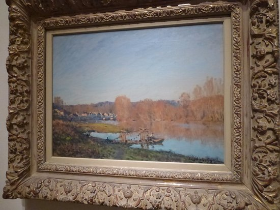 """Alfred Sisley """"Autumn: Banks of the Seine near Bougival""""-Montreal Museum of Fine Arts"""