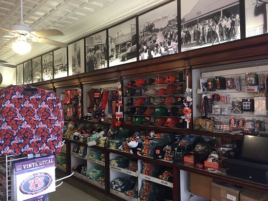 Toomer's Corner: Just a small portion of the Auburn Fan Gear available. I love the historical pictures most!