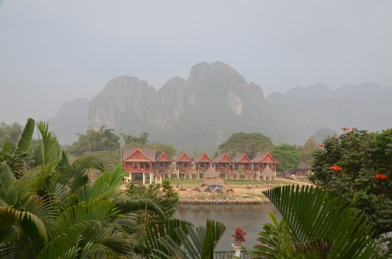Vansana Vang Vieng Hotel: View from the restaurant