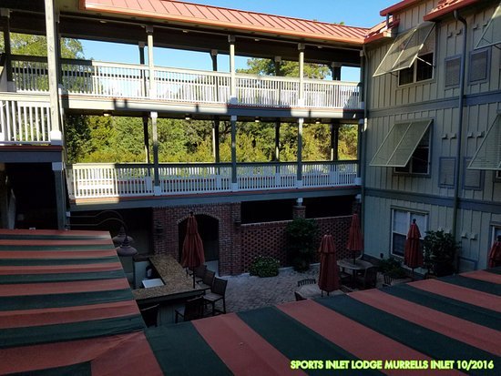 The Inlet Sports Lodge: View from the second floor walkway