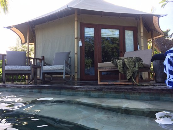Banyuwedang, Indonesien: This is the one-bedroom Tent with a pool