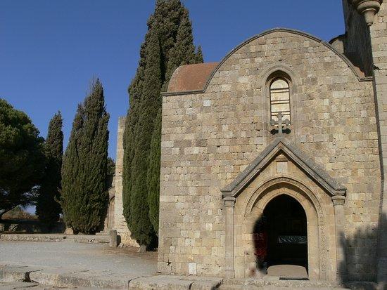 Filerimos, Grekland: facciata della chiesa