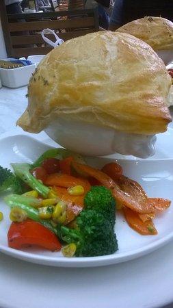 DOME Café: Chicken pot pie and veg