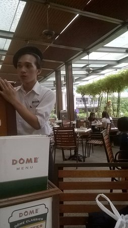 DOME Café: Sitting in the restaurant