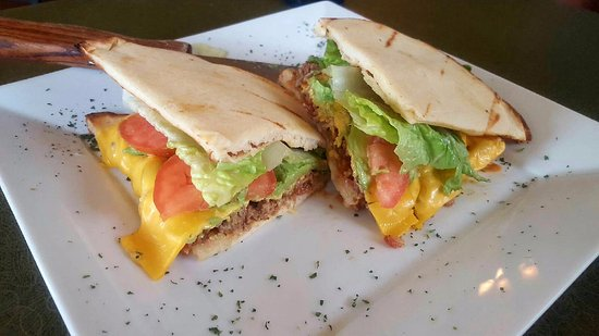 Monroe, WI: Dan Panini, ground beef, bacon, cheese, tomato, avocado and chipotle sauce