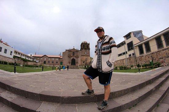 Juli, بيرو: desde la entrada de la iglesia