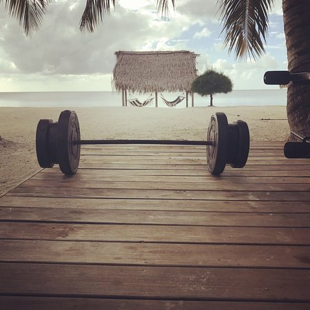Turquoise Bay Dive & Beach Resort : I was still able to stick to my weightlifting while on vacation!