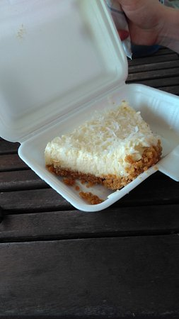 Ngatangiia, Cook Islands: pineapple pie, already-eaten before picture taken, was very nice
