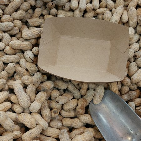 Christiansburg, VA: One of the two bins of roasted peanuts which are complimentary.