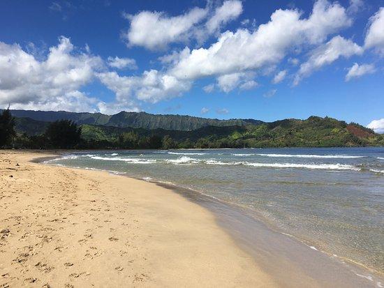 Hanalei Beach: Beautiful Hanalei Bay.
