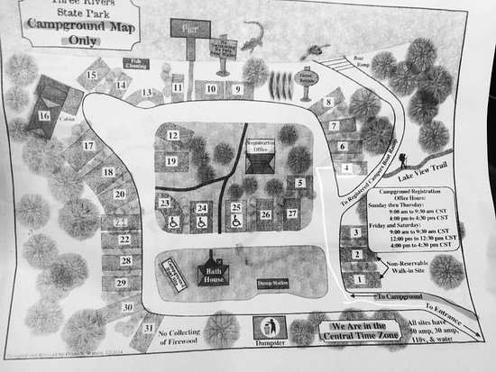 Three Rivers Campground Map Picture Of Three Rivers State Park