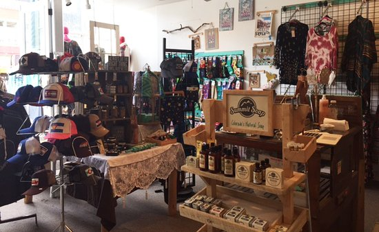 Silverton, CO: Shop overview. You can see Summit Soap display (also made in Colorado)