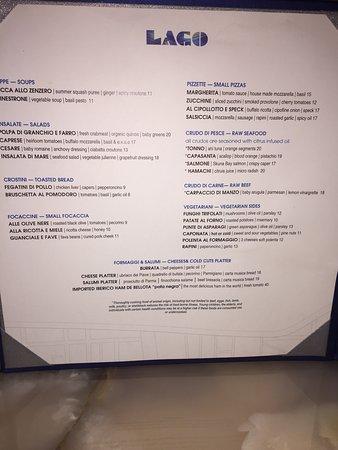the menu - picture of lago at bellagio hotel, las vegas - tripadvisor