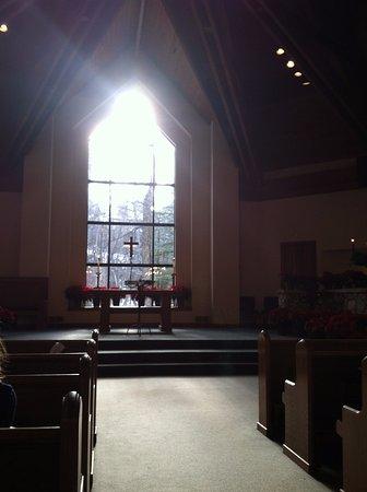 Beaver Creek Chapel: Sunset inside of the chapel