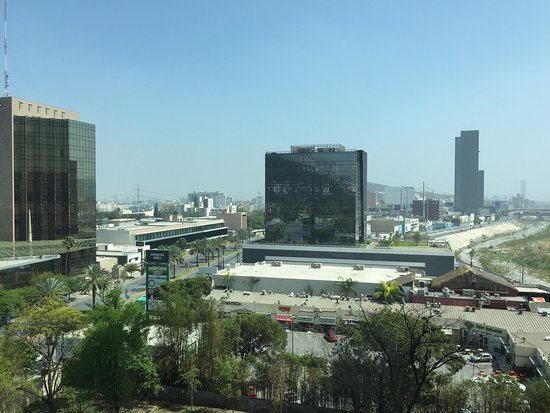 Monterrey N L Mexico skyline from my Room 804 window Courtyard