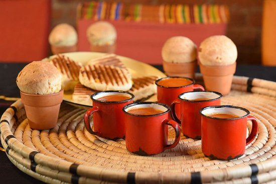Gold Restaurant: Our spicy tomato soup a popular winter item is served in enamel cups and widely used across Afri